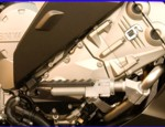 HIGHWAY PEGS, FITS STOCK ENGINE GUARD BARS UP TO 2016, K1600GT/GTL/GTLE, and 2017 GT, ANODIZE ALUMINUM (26-400AA)