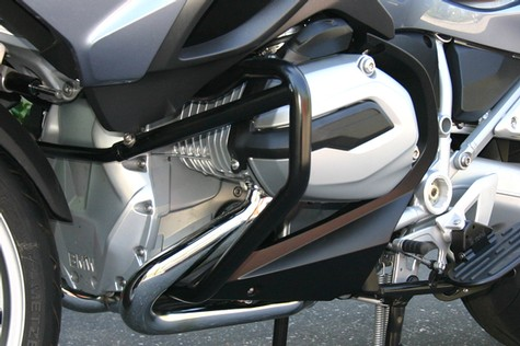 ENGINE GUARD BAR SYSTEM (CRASH BARS), 2014-2017 R1200 RTW, BLACK POWDER FINISH (30-200BL)